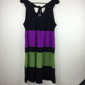 Blu Sage Color Block Swing Dress Size Large